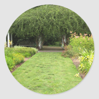 Trädgårds- väg runt klistermärke