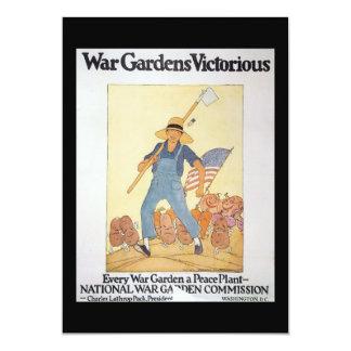 Trädgårds- världskrig II för krig 12,7 X 17,8 Cm Inbjudningskort