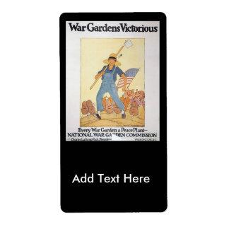 Trädgårds- världskrig II för krig Fraktsedel