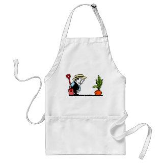 Trädgårdsmästare med moroten förkläde