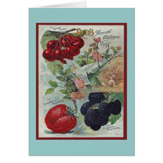 trädgårdsmästarevintagehälsning OBS kort