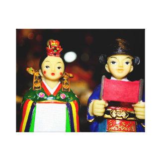 Tradional koreanskt bröllop canvastryck