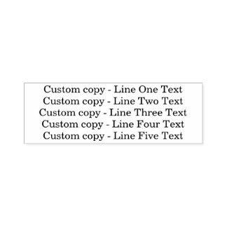 Traditionell beställnings- linjer för affär 5 av självfärgande stämpel