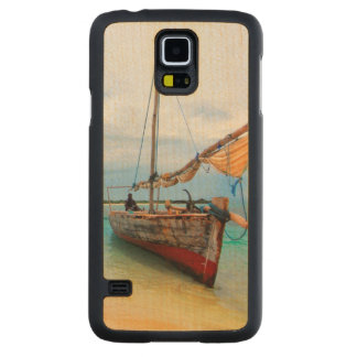 Traditionell Dhow, Zanzibar, Tanzania Maple Galaxy S5 Slim Case