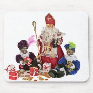 Traditionell holländsk kultur: Jultomten och svart Musmatta