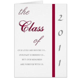 Traditionell inbjudan för studenten 2011 hälsningskort