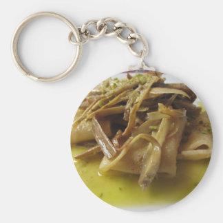 Traditionell italiensk Paccheri pasta med Rund Nyckelring
