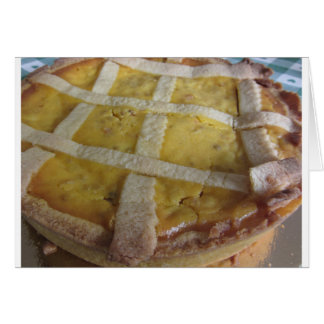 Traditionell italiensk tårta Pastiera Napoletana Hälsningskort
