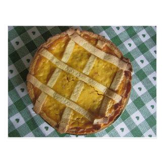 Traditionell italiensk tårta Pastiera Napoletana Vykort