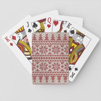 Traditionell jul spelkort