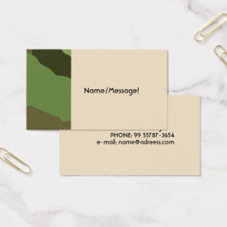 Traditionell militär kamouflage visitkort