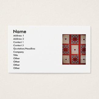 Traditionella stam- väva textilvisitkortar visitkort