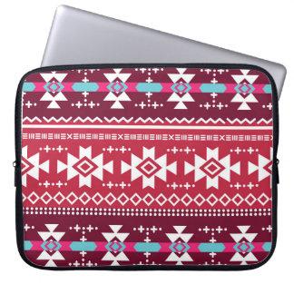 Traditionellt Aztec seamless stam- mönster för Laptop Fodral