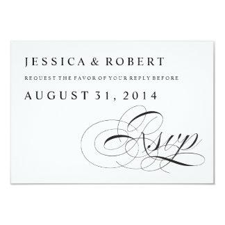 Traditionellt bröllop OSAkort för svart & för vit 8,9 X 12,7 Cm Inbjudningskort