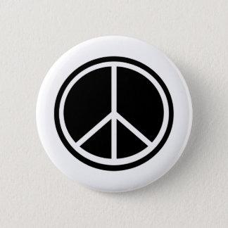 Traditionellt fredsymbol standard knapp rund 5.7 cm