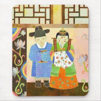 Traditionellt koreanskt bröllop (#1) Mousepad Mus Mattor