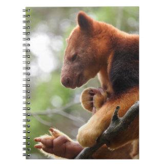 Trädkänguruanteckningsbok Anteckningsbok Med Spiral