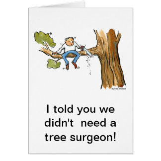 trädkirurg hälsningskort