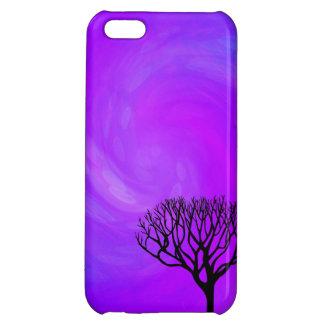 TrädSilhouette (nordligt ljus) iPhone 5C Fodral