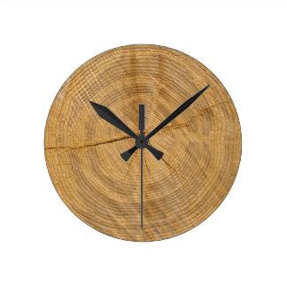trädstam medium rund klocka