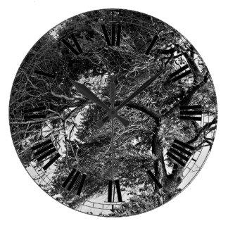 Trädväggen tar tid på stor klocka