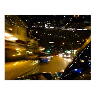 Trafikera nattljus vykort