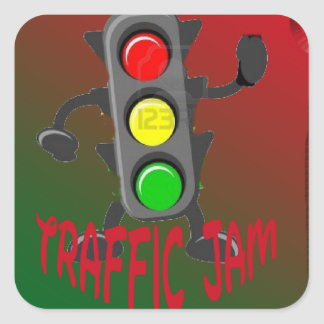 Trafikstockning Fyrkantiga Klistermärken