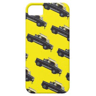 Trafikstockning - gult och svart taxi iPhone 5 cover