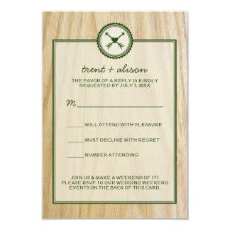 Träig bröllop & Glamping OSA kort 8,9 X 12,7 Cm Inbjudningskort