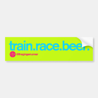 TRAIN.RACE.BEER. Bildekal