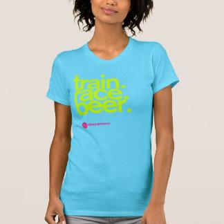 TRAIN.RACE.BEER. Kvinna T-tröja T-shirt