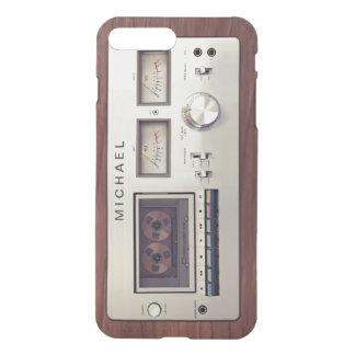 Träkabinett för Retro registreringsapparat för iPhone 7 Plus Skal