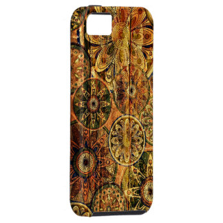 träkonst för blommigtabstraktvektor iPhone 5 hud