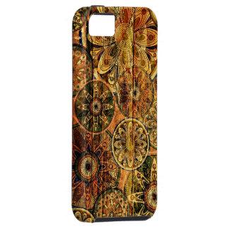 träkonst för blommigtabstraktvektor iPhone 5 cover