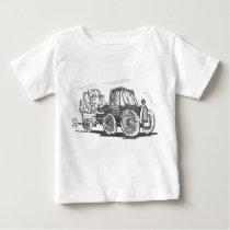 Traktor- och släputslagsplatsskjorta tröja