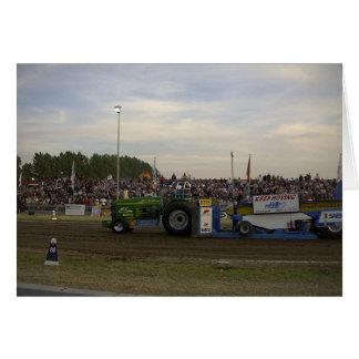 Traktor som drar #3 hälsningskort