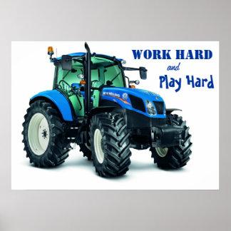 Traktoraffisch Poster