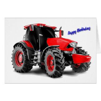 Traktoren avbildar för födelsedag-hälsning-kort hälsningskort