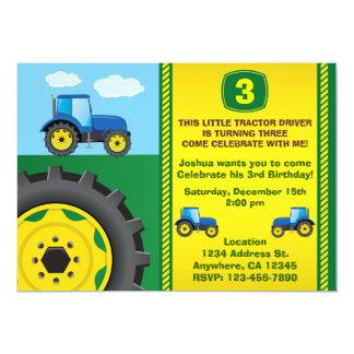 Traktorfödelsedagsfest inbjudan någon åldras