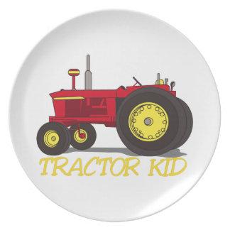 Traktorunge Tallrik