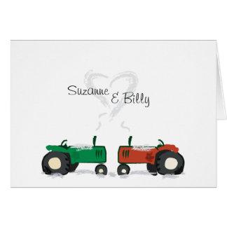 Traktorvalentinkort Hälsningskort
