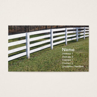 trälång vit postar och rail staket visitkort