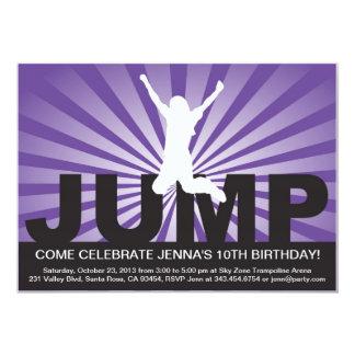 Trampolinefödelsedagsfest inbjudan för en flicka