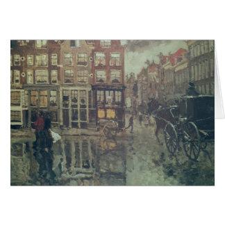 Tränga någon av Leidsche kvadrerar, Amsterdam Hälsningskort