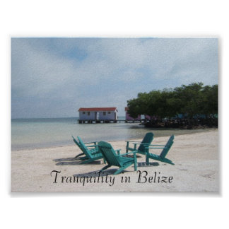 Tranquility i Belize Poster