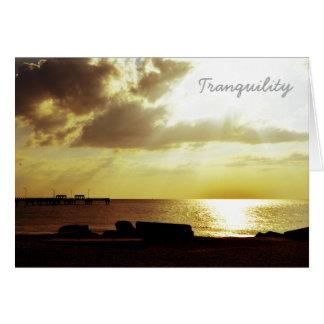 Tranquility på stranden hälsningskort
