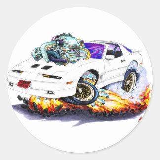 Trans.-förmiddagvit 1982-92 Turbo GTA Runt Klistermärke