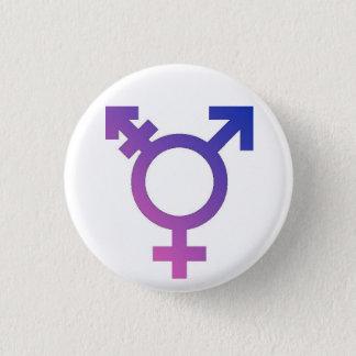 Trans* pride knäppas mini knapp rund 3.2 cm