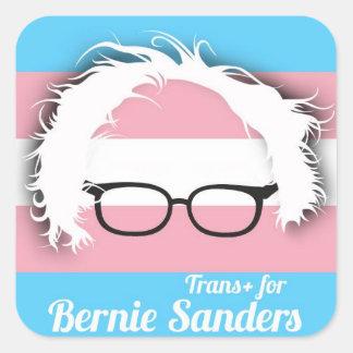 Transgenderpride för Bernie slipmaskiner Fyrkantigt Klistermärke