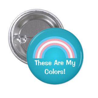 Transgenderregnbågepride knäppas mini knapp rund 3.2 cm